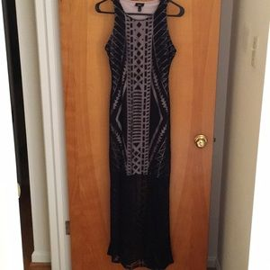 Mossimo Black dress with tan insert size small